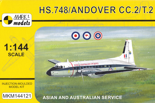 HS.748 / アンドーヴァー CC.2/T.2 戦術輸送機 アジア・オーストラリアプラモデル(MARK 1ミリタリー インジェクションキットNo.MKM144121)商品画像