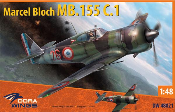 ブロック MB.155 C.1プラモデル(ドラ ウイングス1/48 エアクラフト プラモデルNo.DW48021)商品画像