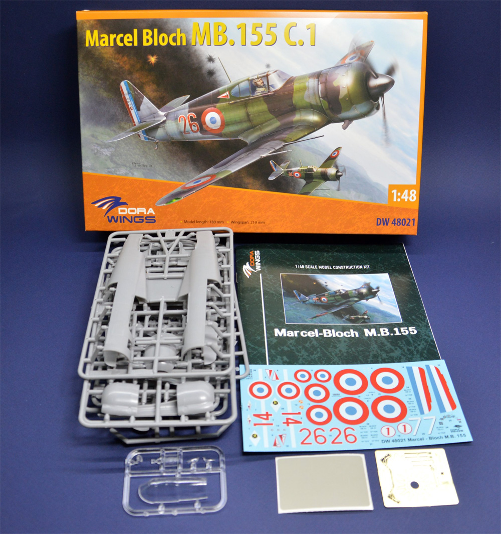 ブロック MB.155 C.1プラモデル(ドラ ウイングス1/48 エアクラフト プラモデルNo.DW48021)商品画像_1