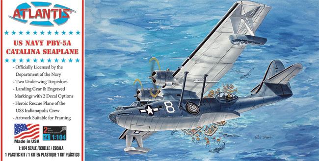 アメリカ海軍 PBY-5A カタリナ 飛行艇プラモデル(アトランティスプラスチックモデルキットNo.M5301)商品画像
