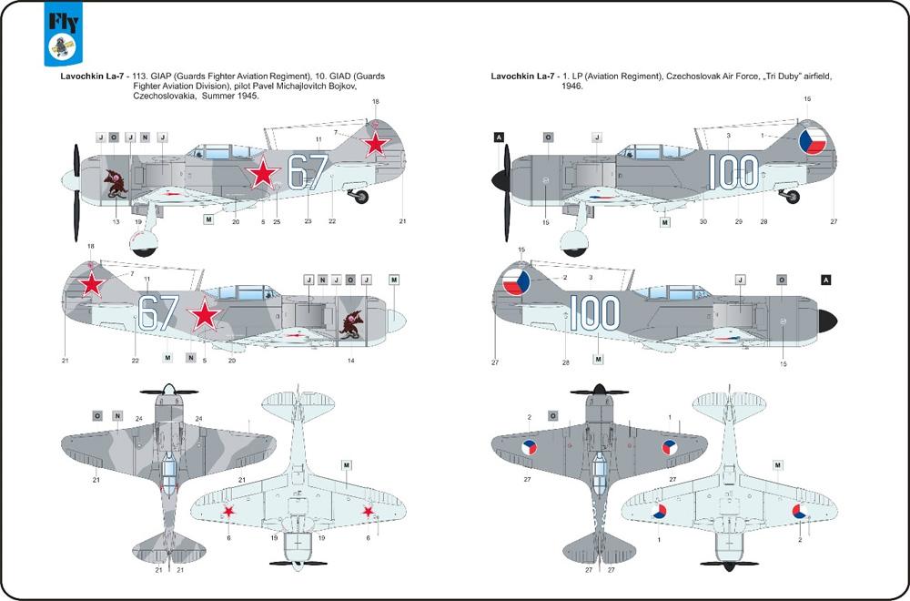 ラヴォーチキン La-7 ソビエト戦闘機プラモデル(フライ1/48 エアクラフト プラモデルNo.48034)商品画像_2