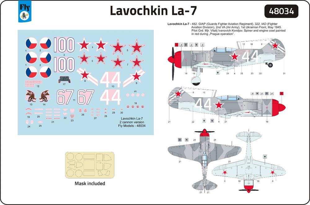 ラヴォーチキン La-7 ソビエト戦闘機プラモデル(フライ1/48 エアクラフト プラモデルNo.48034)商品画像_3
