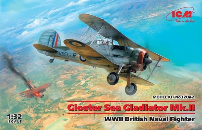 グロスター シーグラジエーター Mk.2 イギリス海軍 戦闘機プラモデル(ICM1/32 エアクラフトNo.34042)商品画像