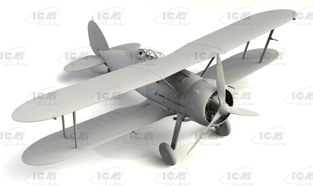 グロスター シーグラジエーター Mk.2 イギリス海軍 戦闘機プラモデル(ICM1/32 エアクラフトNo.34042)商品画像_1