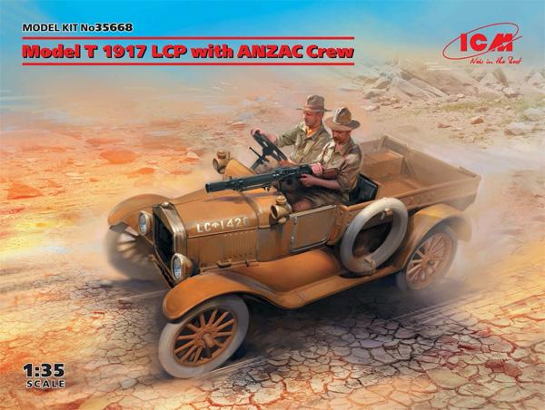T型フォード 1917 LCP w/アンザック クループラモデル(ICM1/35 ミリタリービークル・フィギュアNo.35668)商品画像