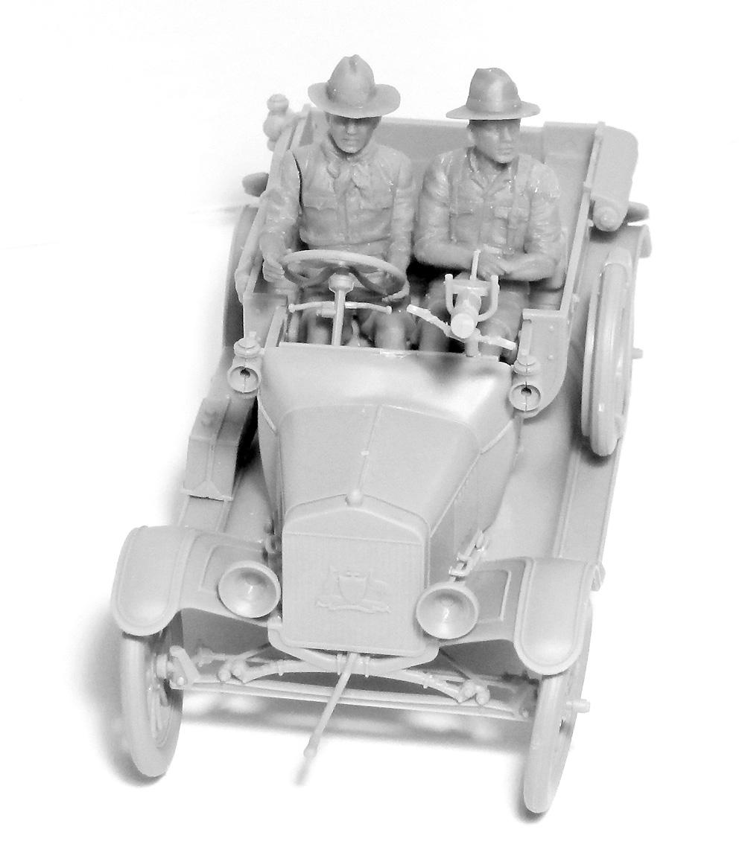T型フォード 1917 LCP w/アンザック クループラモデル(ICM1/35 ミリタリービークル・フィギュアNo.35668)商品画像_2