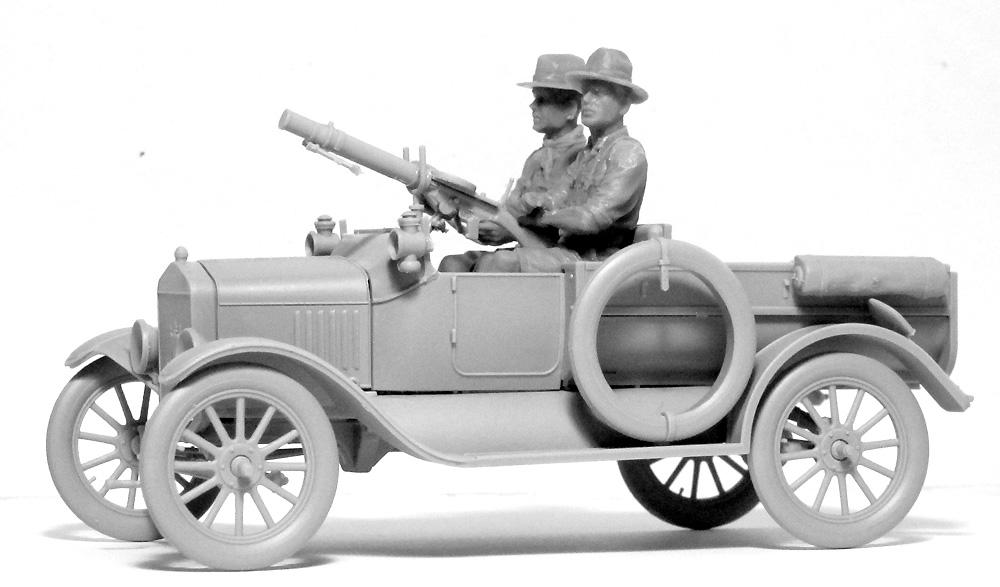 T型フォード 1917 LCP w/アンザック クループラモデル(ICM1/35 ミリタリービークル・フィギュアNo.35668)商品画像_3