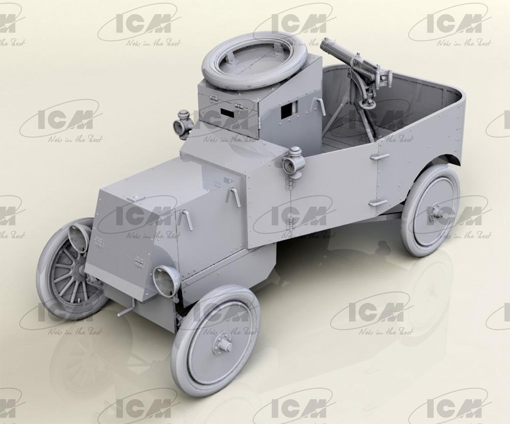 T型フォード RNAS 装甲車プラモデル(ICM1/35 ミリタリービークル・フィギュアNo.35669)商品画像_1