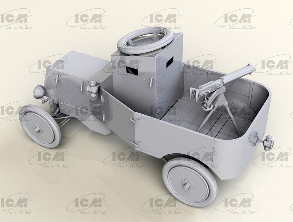 T型フォード RNAS 装甲車プラモデル(ICM1/35 ミリタリービークル・フィギュアNo.35669)商品画像_2