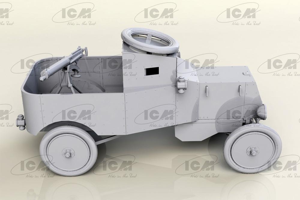 T型フォード RNAS 装甲車プラモデル(ICM1/35 ミリタリービークル・フィギュアNo.35669)商品画像_3