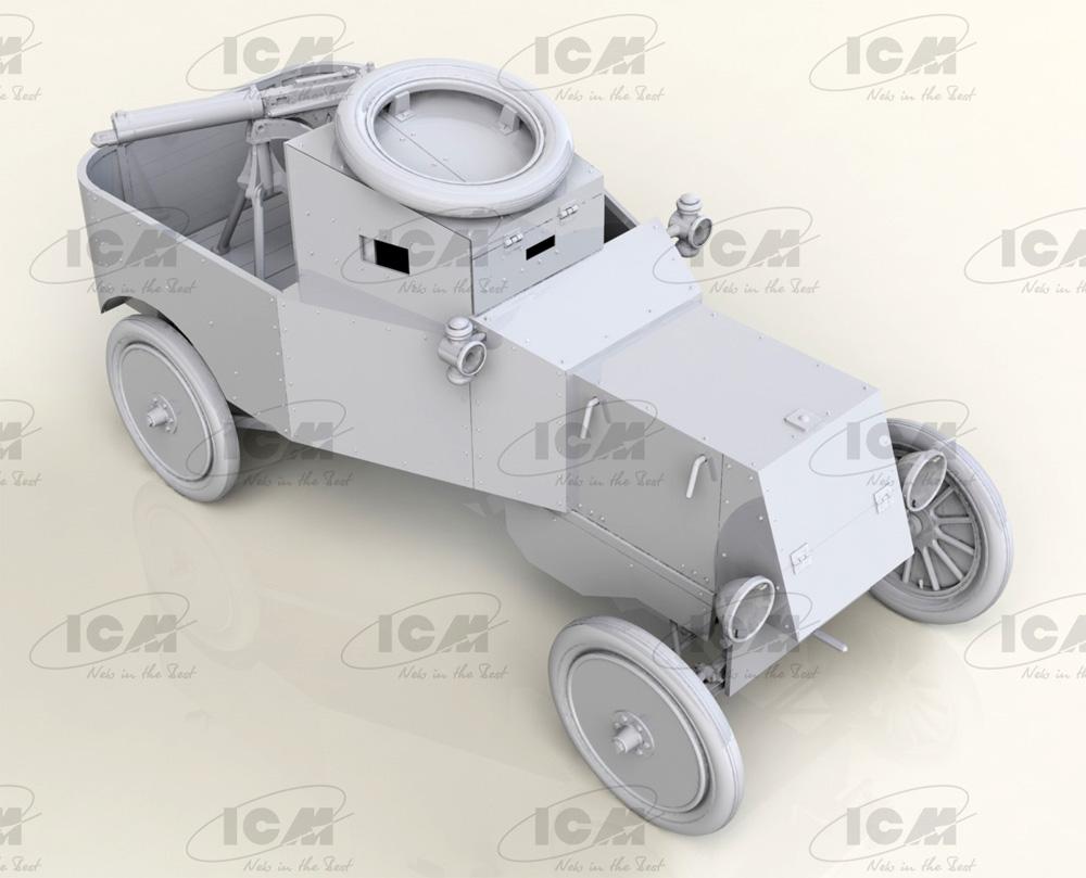 T型フォード RNAS 装甲車プラモデル(ICM1/35 ミリタリービークル・フィギュアNo.35669)商品画像_4