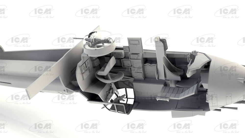 ドルニエ Do217J-1/2 ドイツ 夜間戦闘機プラモデル(ICM1/48 エアクラフト プラモデルNo.48272)商品画像_4