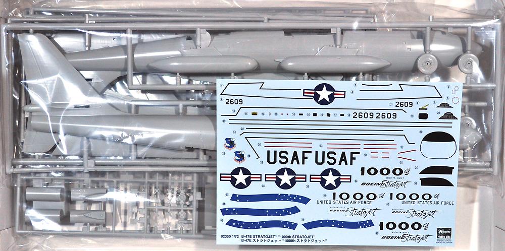B-47E ストラトジェット 1000th ストラトジェットプラモデル(ハセガワ1/72 飛行機 限定生産No.02350)商品画像_1
