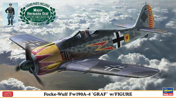 フォッケウルフ Fw190A-4 グラーフ w/フィギュアプラモデル(ハセガワ1/48 飛行機 限定生産No.07492)商品画像