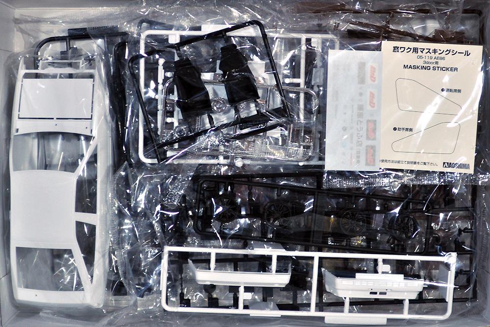 藤原拓海 AE86 トレノ 第1巻仕様プラモデル(アオシマ1/24 頭文字D (イニシャルD)No.005)商品画像_1