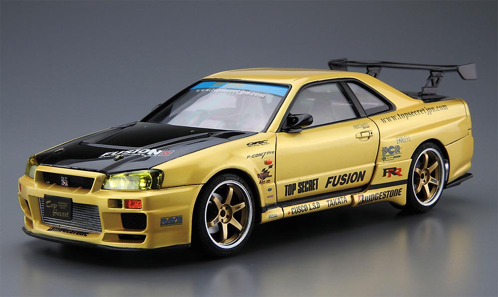トップシークレット BNR34 スカイライン GT-R '02 (ニッサン)プラモデル(アオシマ1/24 ザ・チューンドカーNo.015)商品画像_2