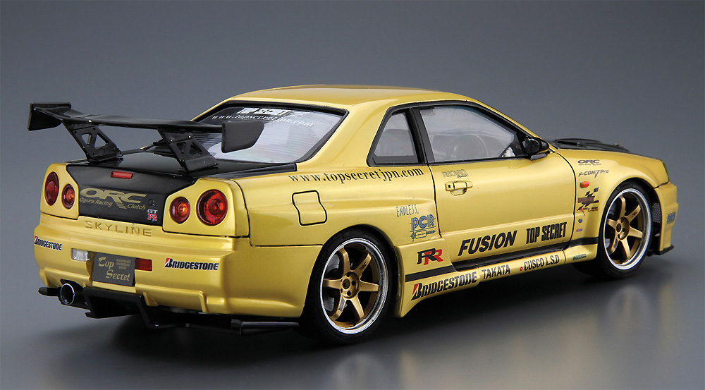 トップシークレット BNR34 スカイライン GT-R '02 (ニッサン)プラモデル(アオシマ1/24 ザ・チューンドカーNo.015)商品画像_3