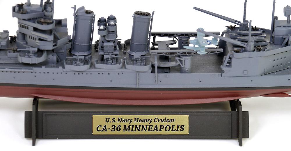 アメリカ海軍 重巡洋艦 CA-36 ミネアポリス 1942 旗・艦名プレート エッチングパーツ付きプラモデル(ピットロード1/700 スカイウェーブ W シリーズNo.W195NH)商品画像_3