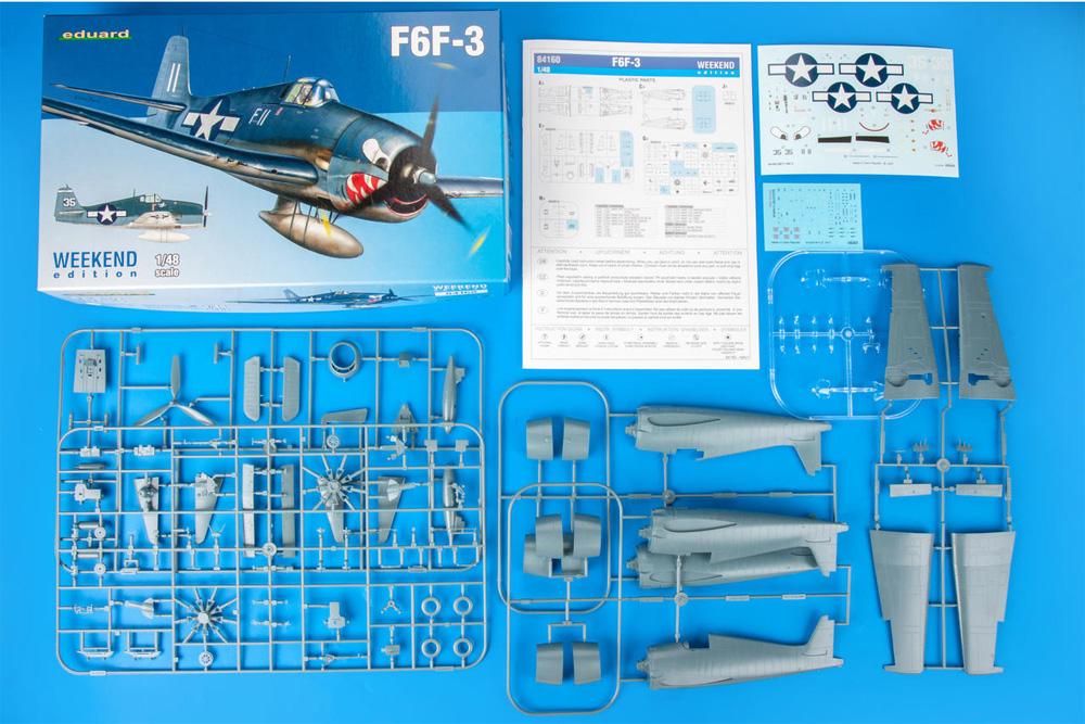 グラマン F6F-3 ヘルキャットプラモデル(エデュアルド1/48 ウィークエンド エディションNo.84160)商品画像_1