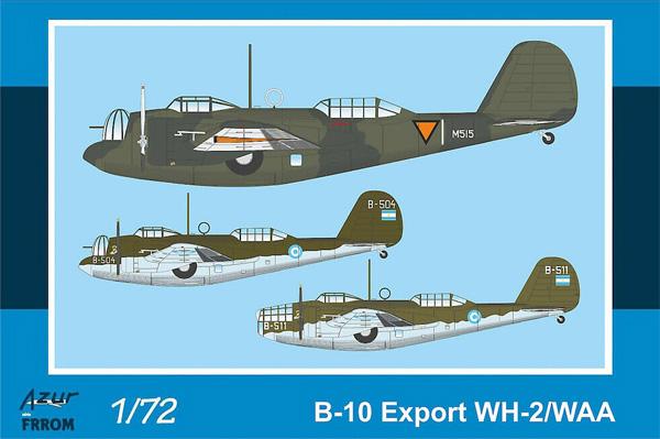 B-10 爆撃機 輸出型 WH-2/WAAプラモデル(アズール1/72 航空機モデルNo.FR042)商品画像