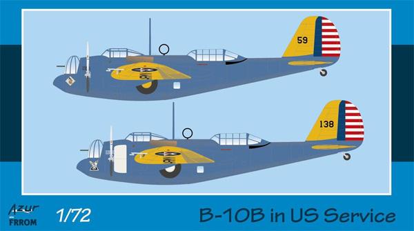 B-10B 爆撃機 アメリカ陸軍航空隊プラモデル(アズール1/72 航空機モデルNo.FR0044)商品画像