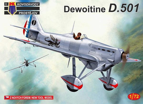デボワチン D.501 フランスプラモデル(KPモデル1/72 エアクラフト プラモデルNo.KPM0178)商品画像
