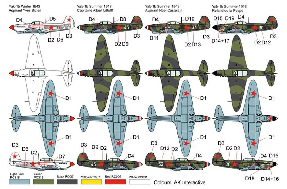 ヤコブレフ Yak-1B ノルマンディー ニーメンプラモデル(ブレンガン1/72 Plastic kitsNo.BRP72042)商品画像_2