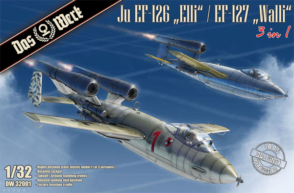 Ju EF-126 エリ / EF-127 ウォーリー 3in1プラモデル(ダス ヴェルク1/32 ミリタリーNo.DW32001)商品画像