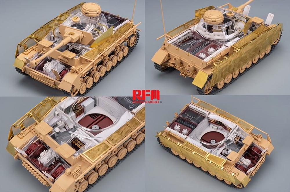 ドイツ Sd.Kfz.161/2 4号戦車J型 最終生産型 w/フルインテリア & 連結組立可動式履帯プラモデル(ライ フィールド モデル1/35 Military Miniature SeriesNo.5043)商品画像_3