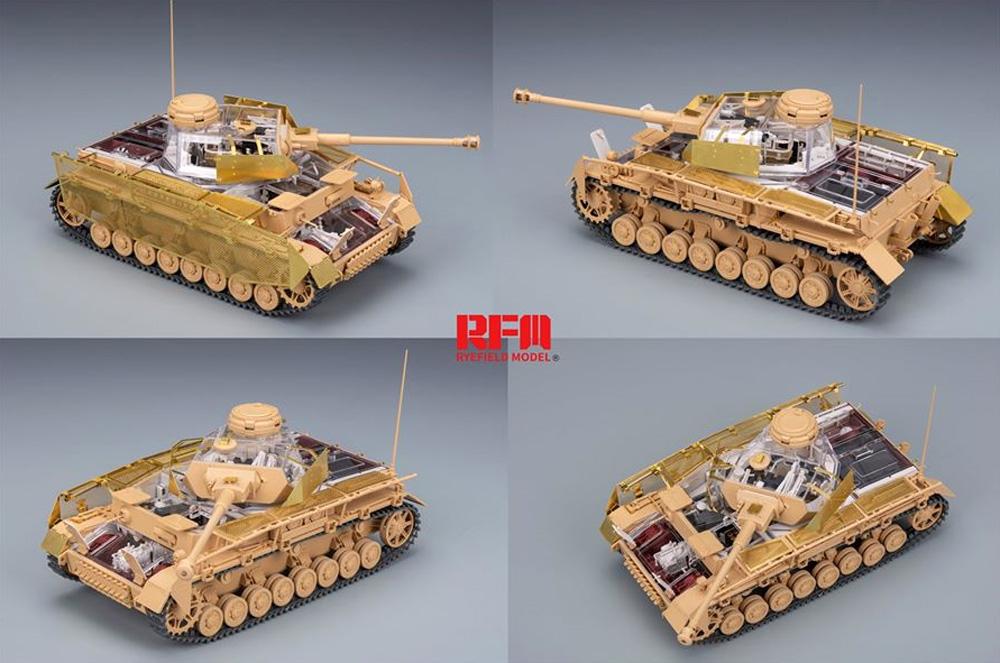 ドイツ Sd.Kfz.161/2 4号戦車J型 最終生産型 w/フルインテリア & 連結組立可動式履帯プラモデル(ライ フィールド モデル1/35 Military Miniature SeriesNo.5043)商品画像_4