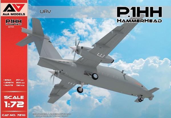 ピアッジョ セレックス P.1HH ハンマーヘッド 無人偵察機プラモデル(A&A MODELS1/72 プラスチックモデルNo.7210)商品画像