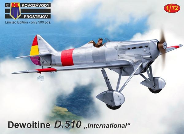 ドボワチン D.510 インターナショナルプラモデル(KPモデル1/72 エアクラフト プラモデルNo.KPM0180)商品画像