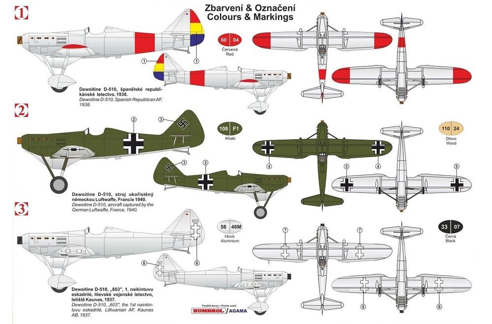 ドボワチン D.510 インターナショナルプラモデル(KPモデル1/72 エアクラフト プラモデルNo.KPM0180)商品画像_1