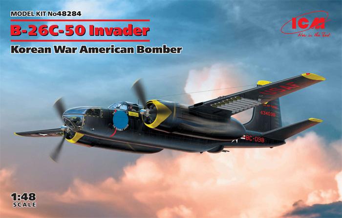 B-26C-50 インベーダー コリアンウォープラモデル(ICM1/48 エアクラフト プラモデルNo.48284)商品画像