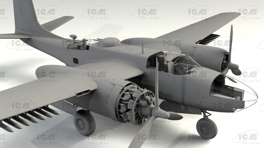 B-26C-50 インベーダー コリアンウォープラモデル(ICM1/48 エアクラフト プラモデルNo.48284)商品画像_2