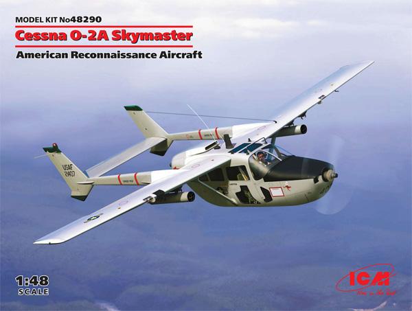 セスナ O-2A スカイマスタープラモデル(ICM1/48 エアクラフト プラモデルNo.48290)商品画像