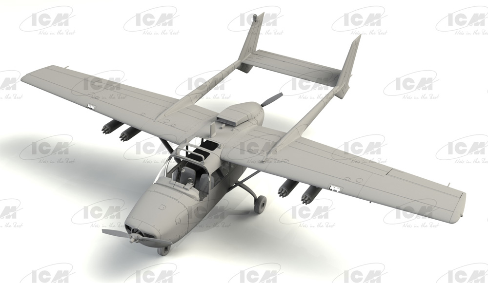セスナ O-2A スカイマスタープラモデル(ICM1/48 エアクラフト プラモデルNo.48290)商品画像_1
