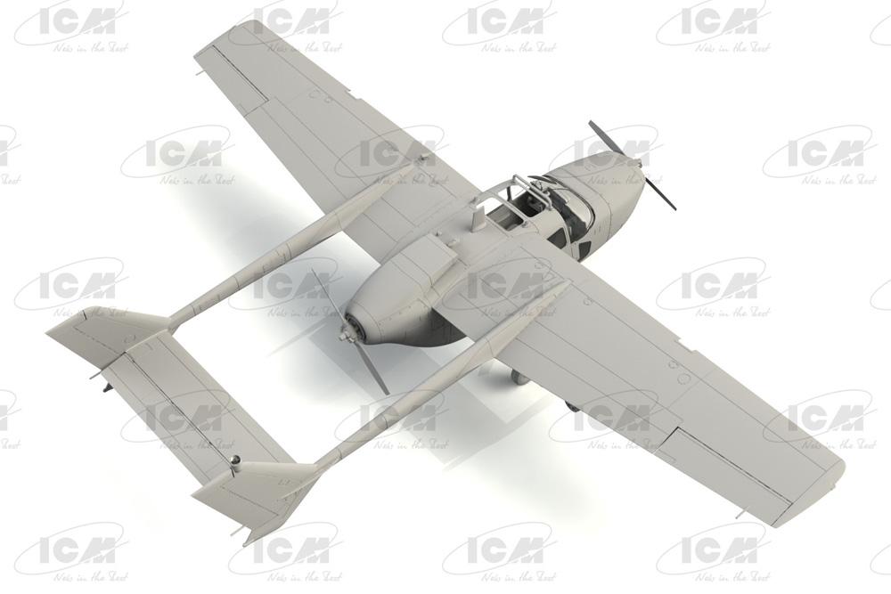 セスナ O-2A スカイマスタープラモデル(ICM1/48 エアクラフト プラモデルNo.48290)商品画像_2