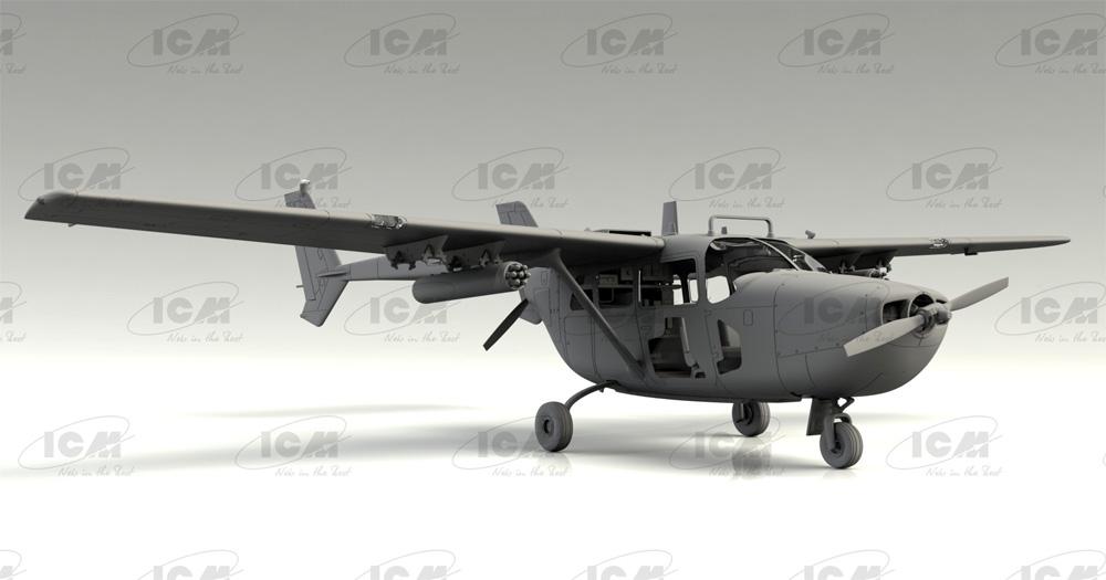 セスナ O-2A スカイマスタープラモデル(ICM1/48 エアクラフト プラモデルNo.48290)商品画像_3