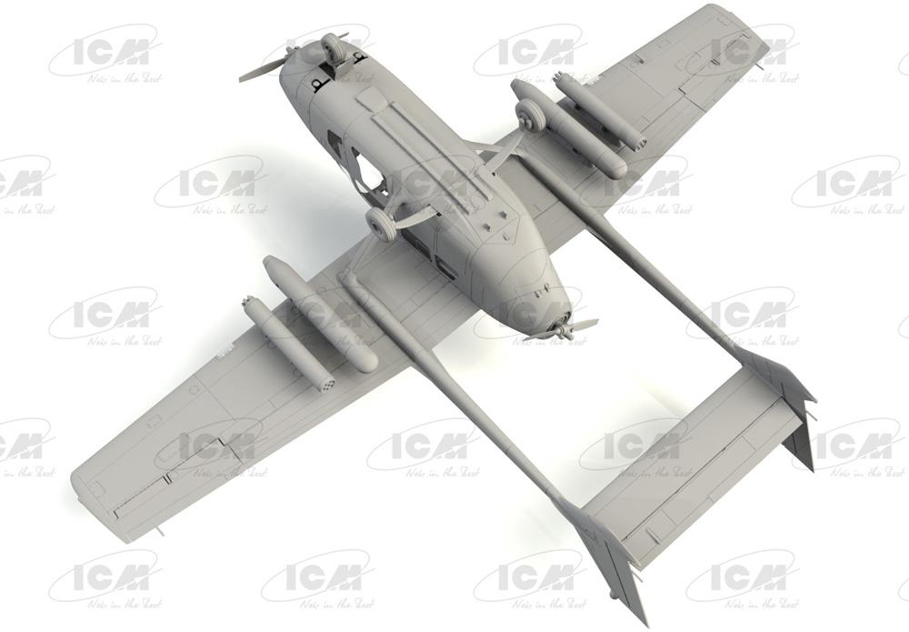 セスナ O-2A スカイマスタープラモデル(ICM1/48 エアクラフト プラモデルNo.48290)商品画像_4