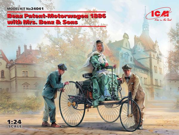 ベンツ パテント モトールヴァーゲン 1886 w/Mrs.ベンツ & サンズプラモデル(ICM1/24 カーモデルNo.24041)商品画像