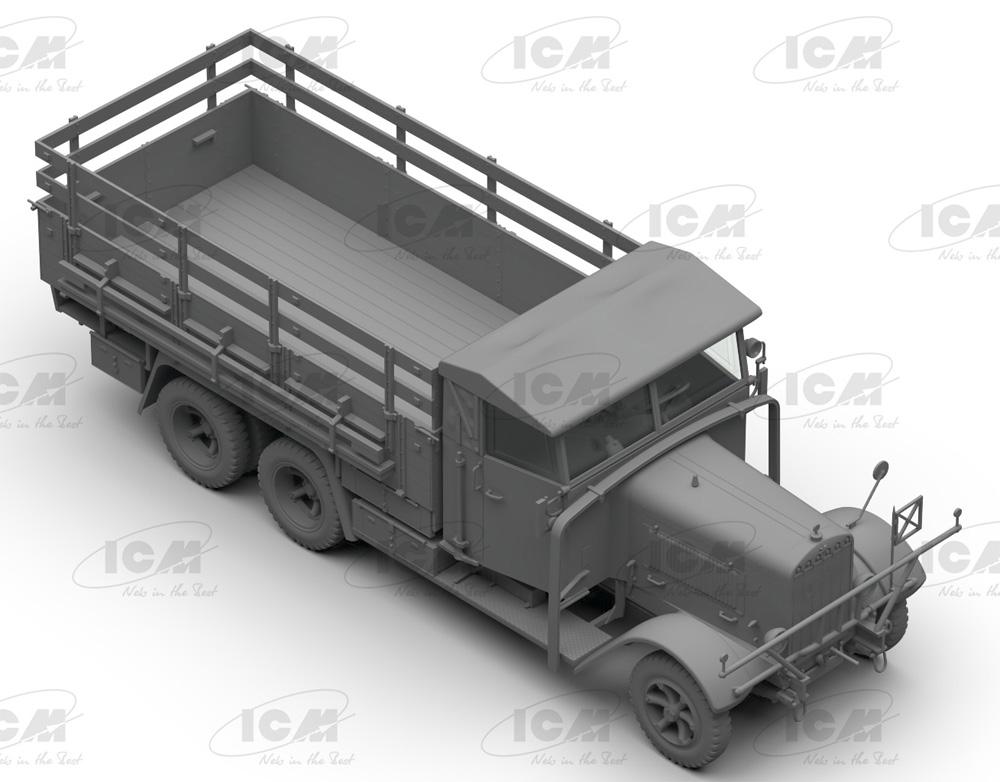 ドイツ国防軍 3軸 トラックセット (ヘンシェル33D1、クルップL3H163、LG3000)プラモデル(ICMダイオラマセットNo.DS3508)商品画像_1