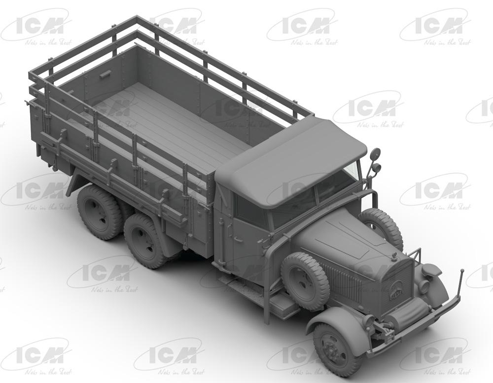 ドイツ国防軍 3軸 トラックセット (ヘンシェル33D1、クルップL3H163、LG3000)プラモデル(ICMダイオラマセットNo.DS3508)商品画像_3
