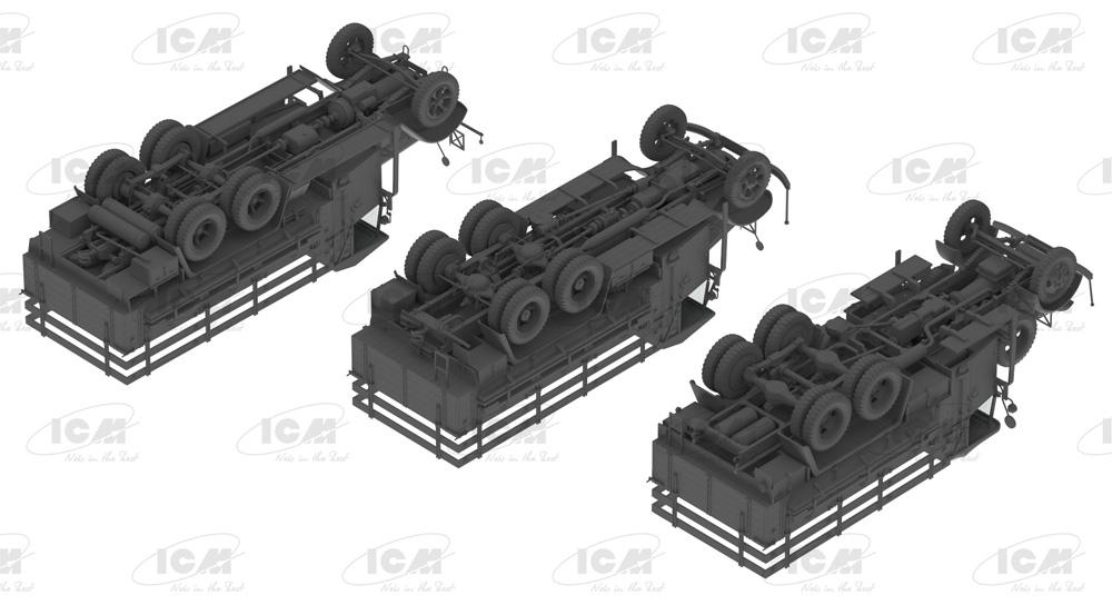 ドイツ国防軍 3軸 トラックセット (ヘンシェル33D1、クルップL3H163、LG3000)プラモデル(ICMダイオラマセットNo.DS3508)商品画像_4