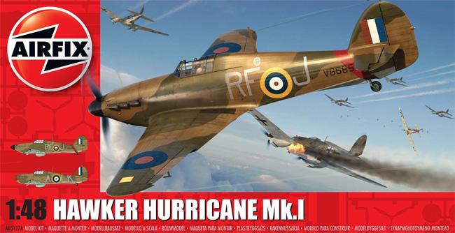 ホーカー ハリケーン Mk.1プラモデル(エアフィックス1/48 ミリタリーエアクラフトNo.A05127A)商品画像