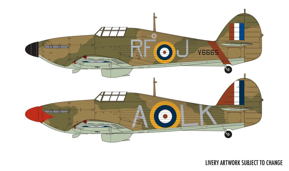 ホーカー ハリケーン Mk.1プラモデル(エアフィックス1/48 ミリタリーエアクラフトNo.A05127A)商品画像_1