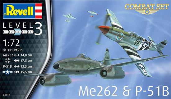 コンバットセット Me262 & P-51Bプラモデル(レベル1/72 AircraftNo.03711)商品画像