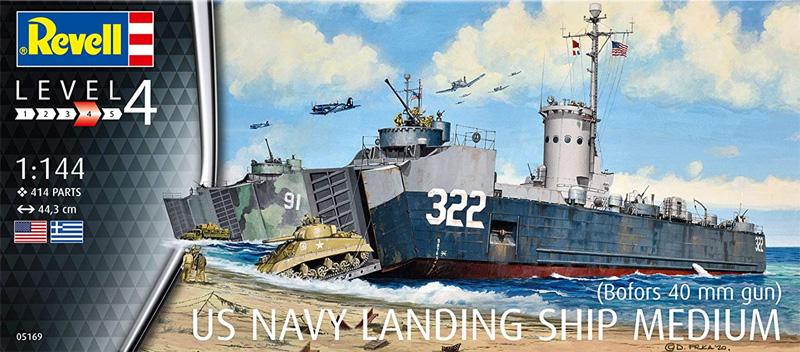 アメリカ海軍 LSM (ボフォース40mm機関砲)プラモデル(レベル1/144 艦船モデルNo.05169)商品画像