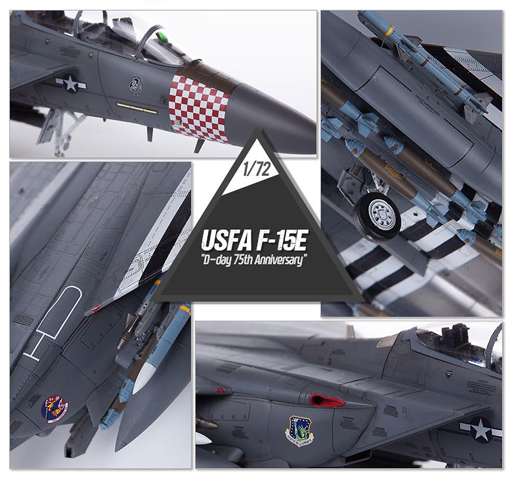 アメリカ空軍 F-15E ストライクイーグル D-DAY 75周年記念塗装プラモデル(アカデミー1/72 AircraftsNo.12568)商品画像_4