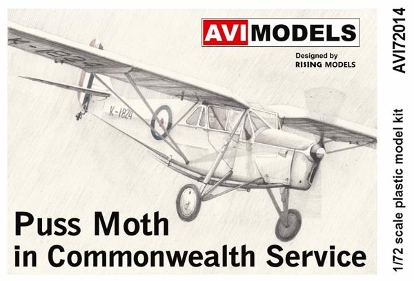 デ・ハビランド D.H.80 プス・モス イギリス連邦プラモデル(AVIモデル1/72 エアクラフト プラモデルNo.AVI72014)商品画像